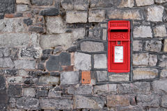 British post box in a wall. Royalty Free Stock Images