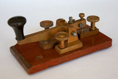 British Post Office Morse Key. A vintage Morse key of the type used by the British Post Office. It was made by Walters Electrical and dates from around the year stock image