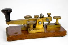 British Post Office Morse Key. A view of an old Morse key of the type used by the British Post Office. This particualr key dates from around 1900 stock photography