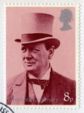 British Postage Stamp Commemorating the Centenary of Churchill`s Royalty Free Stock Images