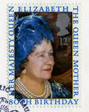 British Postage Stamp Commemorating The Queen Mother`s 80th Birt. UNITED KINGDOM - CIRCA 1980: A used British postage stamp celebrating the 80th Birthday of the Stock Photography