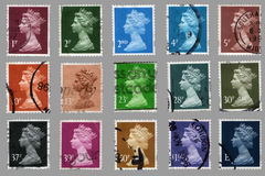 British postage stamps Stock Photo