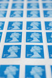 British Postage Stamps Royalty Free Stock Photo