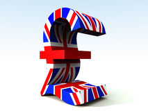 British Pound. A image of the UK currency symbol Royalty Free Stock Photography