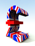 British Pound 2. A image of the UK currency symbol Stock Images