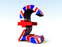 British Pound 3. A image of the UK currency symbol Stock Image