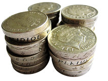 British Pound as Cut Royalty Free Stock Images