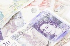 British pound background Royalty Free Stock Photography