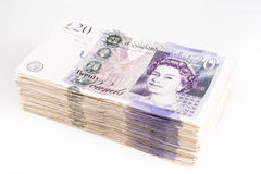 British pound bank notes Stock Photography