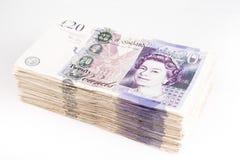 British pound bank notes. British pound sterling bank notes stock photography