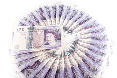 British pound bank notes Stock Photos
