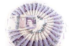 British pound bank notes. British pound sterling bank notes stock photos