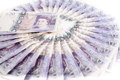 British pound bank notes Royalty Free Stock Photos