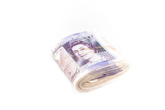 British pound bank notes Royalty Free Stock Images