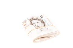 British pound bank notes. British pound sterling bank notes stock image