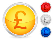 British pound button Stock Photography