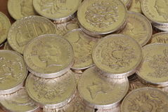 British pound coin stock image