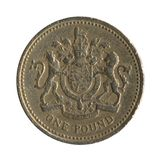 British Pound Coin Back Design 3 royalty free stock photography