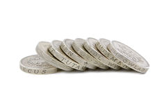 British Pound Coins. A pile of British Pound Coins Royalty Free Stock Photo
