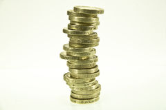 British pound coins Royalty Free Stock Photos