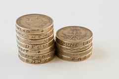 British pound coins Royalty Free Stock Photo
