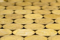 British pound coins background. Royalty Free Stock Photography
