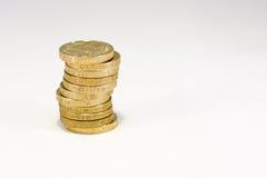 British Pound Coins Stock Photos