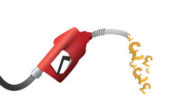 British pound currency gas pump illustration Stock Photography