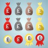 British Pound flat style set Stock Image