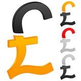 British pound icon Royalty Free Stock Photography