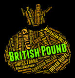 British Pound Indicates Forex Trading And Coinage. British Pound Representing Foreign Exchange And Currencies Stock Photos