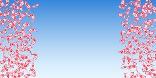 British pound notes falling. Sparse GBP bills on blue sky background. United Kingdom money. Beauteou. S vector illustration. Posh jackpot, wealth or success royalty free illustration