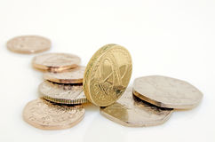British pound and pence. Royalty Free Stock Photography