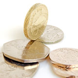 British pound and pence. Stock Images