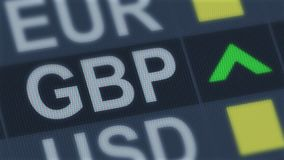 British pound rising, world exchange market, currency rate fluctuating, finance. Stock photo royalty free stock photography