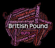British Pound Shows Currency Exchange And Coinage. British Pound Meaning Foreign Exchange And Coin Royalty Free Stock Photo