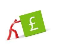 British pound symbol isolated on white Royalty Free Stock Image