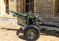 British 25 Pounder Field Gun, 1943 Stock Images