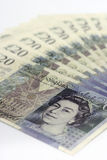 British pounds. On the white background Royalty Free Stock Photography