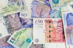British pounds banknotes background Stock Photo