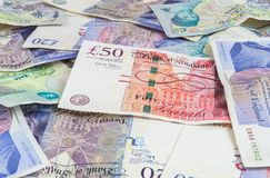 British pounds banknotes background Stock Photography