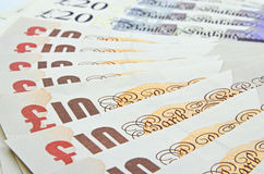 British pounds banknotes Stock Image