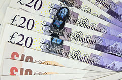 British pounds banknotes Royalty Free Stock Photography