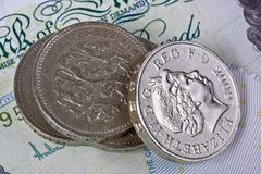 British pounds  coins. Royalty Free Stock Photo
