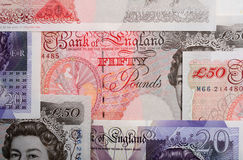 British pounds horizontal Royalty Free Stock Images