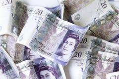 British 20 pounds Stock Photo