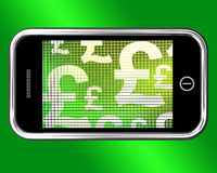 British Pounds Signs On Mobile Royalty Free Stock Photos