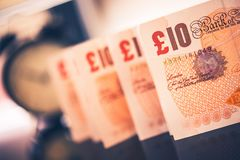 British Pounds on Time Royalty Free Stock Photo