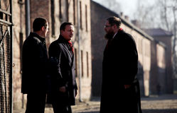British Prime Minister David Cameron. AUSCHWITZ, POLAND - DECEMBER 10, 2014: British Prime Minister David Cameron during the visit in the Nazi concentration camp Stock Images