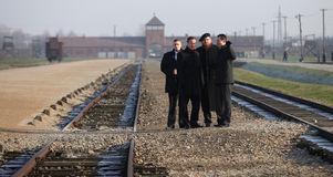 British Prime Minister David Cameron. AUSCHWITZ, POLAND - DECEMBER 10, 2014: British Prime Minister David Cameron during the visit in the Nazi concentration camp Royalty Free Stock Images